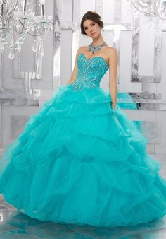 Strapless Ruffled Quinceanera Dress by Mori Lee Valencia Style 60022