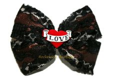 Leopard Bow with Black Lace - Womens, Rocker Chic, Pin-Up, Rockabilly, Rocker Style, Glam, Classic Lolita via Etsy
