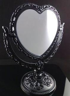 Vintage-Rose-Pattern-2-Sided-Heart-Shape-Vanity-Free-Standing-Dresser-Mirror-s43