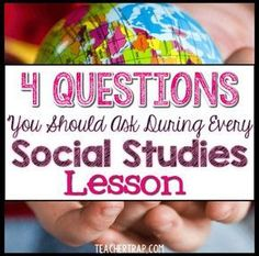 Social Studies Questions - Teacher Trap