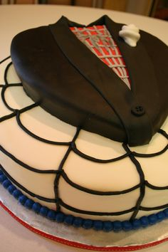 """""""Spider-Man Grooms Cake"""" Heckkk yes. Hopefully my future groom loves Spidey as much as I do. Pretty Cakes, Beautiful Cakes, Amazing Cakes, Wedding Cake Toppers, Wedding Cakes, Batman Wedding, Samantha Wedding, Fathers Day Cake, Wedding Ideas"""