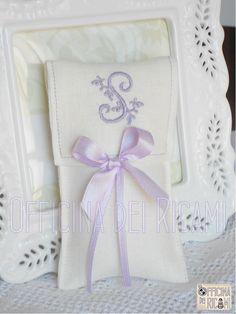 Sacchetto porta confetti per Comunione - Cresima - modello: Lemon - Officina dei Ricami