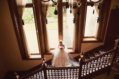 Bride posing on the grand staircase in the beautiful castle Wedding Reception Venues, Wedding Locations, Wedding Ceremony, Indoor Ceremony, Fairytale Castle, Beautiful Castles, Grand Staircase, Here Comes The Bride, Perfect Wedding