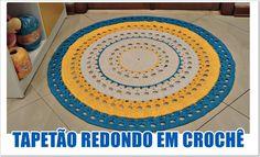 TAPETÃO REDONDO EM CROCHÊ /DIANE GONÇALVES