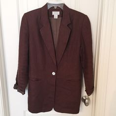 Maroon Blazer Beautiful maroon blazer. Perfect condition. Jackets & Coats Blazers