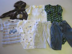 Baby Boy Clothes 3/6 M Months 7 pc Lot Gymboree Carters Old Navy