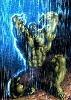 (Hulk) By: Eddie-Ferreira. Marvel Comics Superheroes, Hulk Marvel, Marvel Art, Marvel Characters, Marvel Heroes, Hulk Avengers, Hulk Tattoo, Hulk Art, Hulk Hulk
