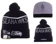 ffc241a172919 Mens   Womens Seattle Seahawks New Era 2016 NFL Sideline Sport Knit Beanie  Hat With Pom Pom - Black   White