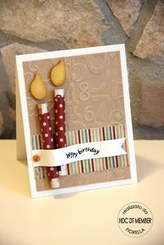 "Sweet ""Happy Birthday"" Candles Card...Hobby di Carta - Il blog."
