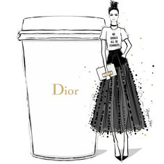"""8,517 Me gusta, 67 comentarios - Megan Hess (@meganhess_official) en Instagram: """"JADIOR my coffee this morning! We Should All be Feminists and drink DIOR."""""""