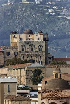 The old royal palace of Palermo, province of Palermo , Sicily, Italy