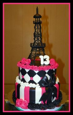 Absolutely AMAZING!!!! I am seriously in love with this!!!!  this is going to be my daughters cake she loves the effiel tower