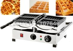 215.00$  Watch more here  - 110V 220V Commercial Use Electric Swing Belgian Liege Waffle Maker Baker Machine Iron