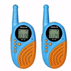 1Pair Retevis RT-35 Kids Mini Walkie Talkie PMR446 8/22 CH UHF 0.5W License-free Rechargeable USB Charge VO X Two Way Radio A9120