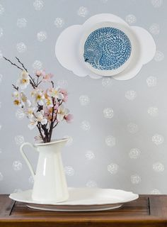Wooden plates wall decor