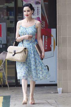 Dita Von Teese in lady dress