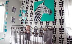 Love these modern nursery graphics! www.thebump.com #decor #nursery