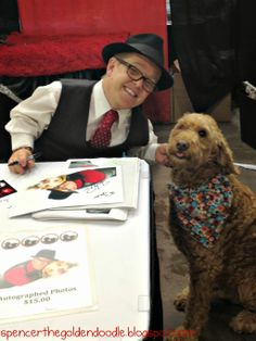 """Spencer the Goldendoodle meeting Shorty for the Animal Channels show """"Pit Boss."""""""