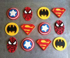 Fondant Super Hero Cupcake Toppers