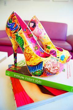 The Joy of Fashion: Sweet Candyland Shoes Unique Shoes, Cute Shoes, Me Too Shoes, Fab Shoes, Pin Up Vintage, Candyland, Shoe Boots, Shoes Heels, Pumps