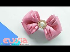 Camada de Fita Laço Kanzashi Ribbon Bow DIY by Elysia Handmade Material : Grosgrain Ribbon 4 x 16 cm (4 piece), 4 x 22 cm (2 piece) Top TEN Video DIY b...