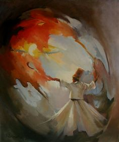 Original Abstract Oil Painting, Whirling Dervishes,Spritual Dancing of Semazen,Painting On Canvas.via Etsy. Painted Ceramic Plates, Whirling Dervish, Islamic Paintings, Arabic Art, Oil Painting Abstract, Pictures To Paint, Art Inspo, Modern Art, Art Drawings