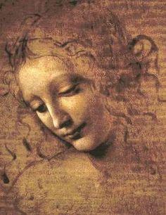 Léonard De Vinci : Visage d'une jeune femme (II) (1508)