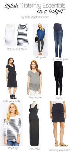Maternity fashion clothing must-haves for the chic mama to be! And on a budget!!