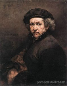 Dutch painter, Rembrandt van Rijn, born on July 15, 1606.