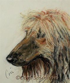Che' Robie Afghan Art By Cori Solomon, painting by artist Art Helping Animals