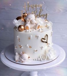 Beautiful Birthday Cakes, Beautiful Cakes, Amazing Cakes, Pretty Cakes, Cute Cakes, Baby Birthday Cakes, Birthday Cake Decorating, Drip Cakes, Fancy Cakes