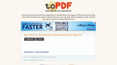 ToPDF Instantly Converts Your Documents to PDF