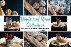 Red pepper and bread collection