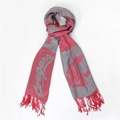 Washington State Cougars Ladies Woven Scarf #GoCougs