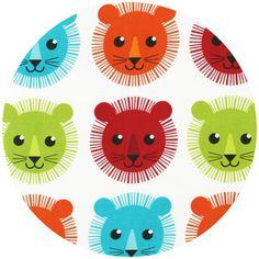 Print & Pattern, Roar, Lion Faces Bright