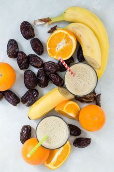 How to make an easy Banana Date Shake which is healthy and nutritious Healthy Smoothies For Kids, Healthy Fruits, Healthy Snacks For Kids, Healthy Drinks, Smoothie Drinks, Smoothie Recipes, Banana Drinks, Nutribullet Recipes, Shake Recipes