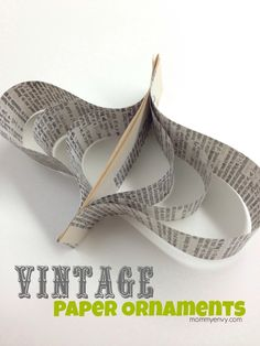Vintage Paper Ornaments for your Christmas Tree (rustic theme) mommyenvy.com