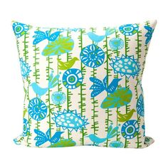 Anyone who has been to our house knows how much I love pillows!  I particularly love the fresh print & colors of this one!