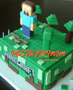 MİNECRAFT PASTA at PASTA FIRINIM Pasta Kurabiye ve Şeker Hamuru Çalışmaları