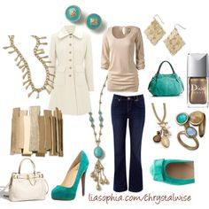 Cream, Turquoise and Gold