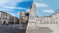 #bevagna #piazza #filipposilvestri #vector #vectorart #vectorartwork Notre Dame, Vector Art, Building, Travel, Instagram, Fotografia, Viajes, Buildings, Destinations