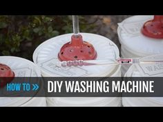 No laundry machine? Got a small off-grid cabin? This cheap DIY bucket washing machine is easy to make and gets the job done! Camping Washing Machine, Mini Washing Machine, Manual Washing Machine, Diy Clothes Washer, Washing Clothes, Five Gallon Bucket, Make Your Own, Make It Yourself, Emergency Preparation