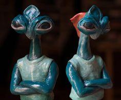 "Lorenzo Sammartino ""Alien - #polymeric #clay #supersculpey #sculpey #alien #scifi #scifiart #oilpainting #art…"""