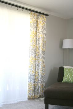 Look at sheets and tablecloths for curtains.