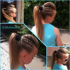 Rock chick braids. Perfect for concerts