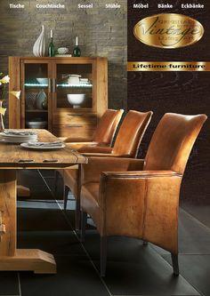 Vintage Möbel Collection  Wundervolle Möbelserie Vintage. Alles aus massiver Wildeiche oder Kerneiche gefertigt. Abgerundet wird diese Serie durch wunderschöne Sessel, Stühle und Eckbänke aus Büffelleder. Besonderheit dieser Serie ist die aufwendige Oberflächenverarbeitung.