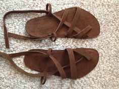 leather sandals tutorial