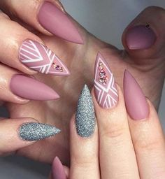 Popular Stiletto Nails Designs from Pinterest