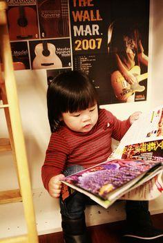 Little rocker is reading again. | Flickr - Photo Sharing!