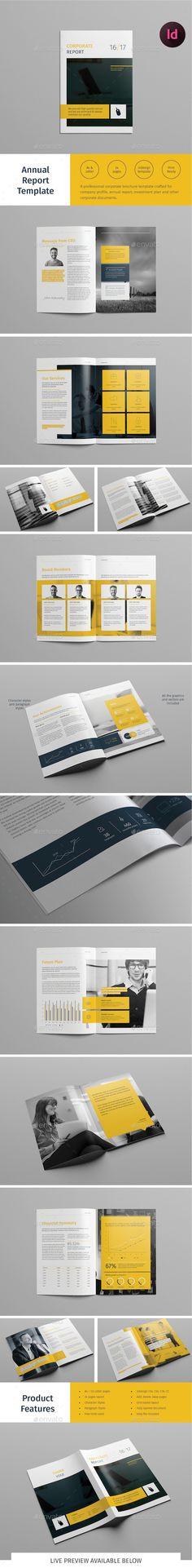 Report Template - #Informational #Brochures Download here: https://graphicriver.net/item/report-template/20080121?ref=alena994